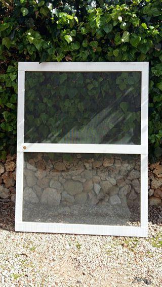 mosquitera puerta madera blanca