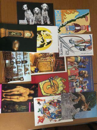 Postales variadas Cantantes, paisajes, religiosas