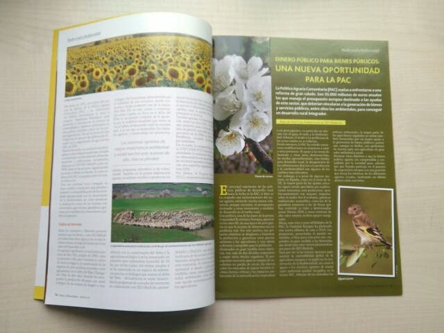 Libro revista aves y naturaleza.