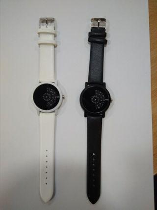 Relojes discos giratorios