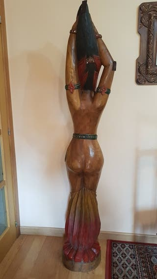 Muñeca Africana Madera Maciza..