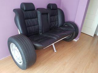 Sofa Bmw (asientos y ruedas de bmw original)