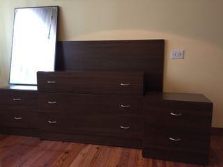 Muebles dormitorio color wengue