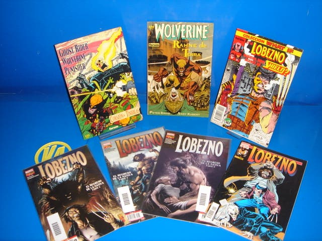 Lote 7 comics GHOST RIDER-WOLVERINE-PUNISHER y mas