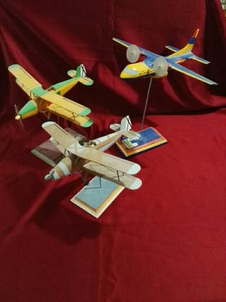 3 maquetas de aviones