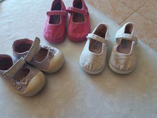 lote zapatos talla 20 niña