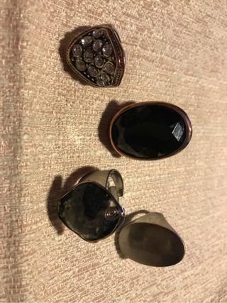 Lote 4 anillos bisuteria