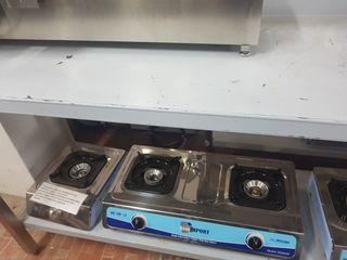 cocina a gas 2fuegos nueva industrial