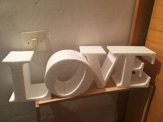 Letras LOVE poliespan