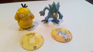 Psyduck y Golduck figuras pokemon tomy originales