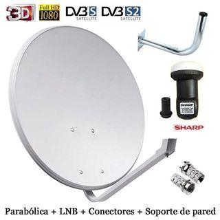 Kit: Parabólica+Lnb+soporte+conectores