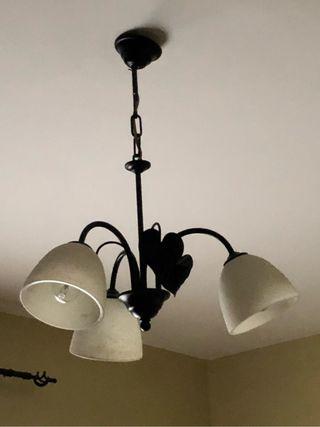Lámpara de techo forja