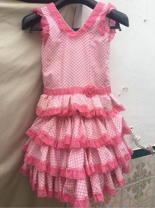 Traje de flamenca de niña T 5-6- 7 años