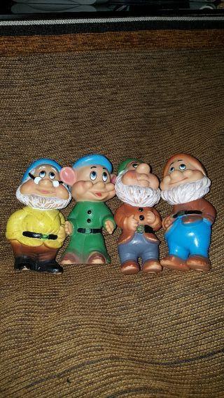 Muñecos antiguos de los 7 enanitos