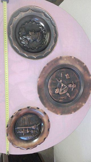 cuadros de cobre repujado