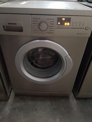 lavadora de 7 kilos siemens de inox muy nueva