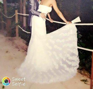 Vestido novia, talla 38,muy bien conservado.