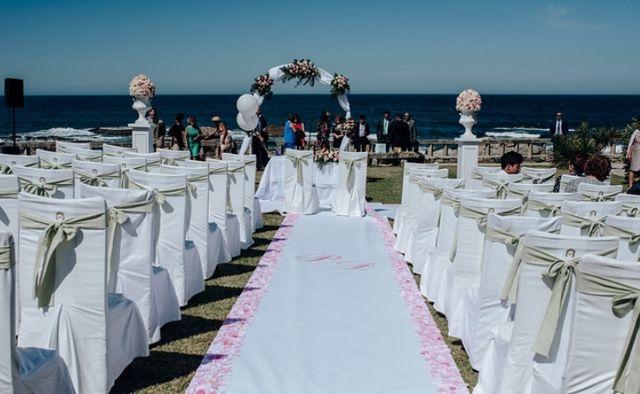 Alfombra boda blanca