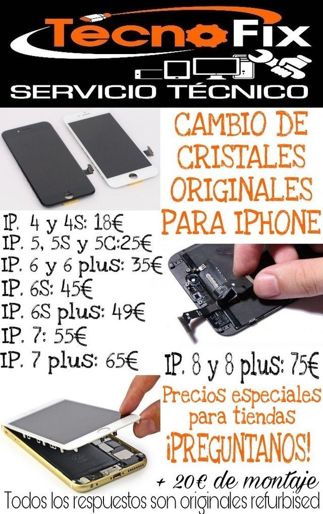 CRISTALES PANTALLAS ORIGINALES IPHONE