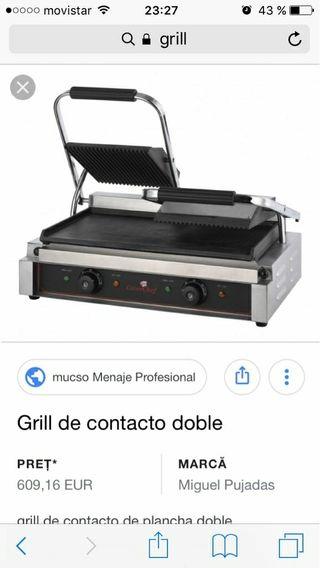 plancha grill doble