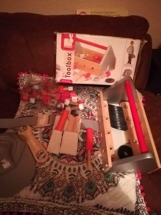 Lote de juguetes de madera