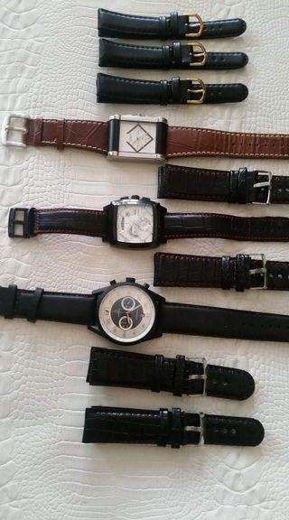 Manillas de reloj en PIEL por docenas