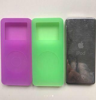 4 fundas de silicona iPod nano