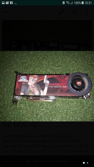 Tarjeta gráfica Radeon HD 4870 X2