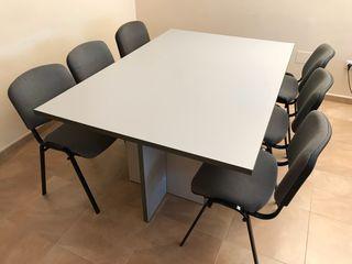 Mesa reuniones oficina + 6 sillas