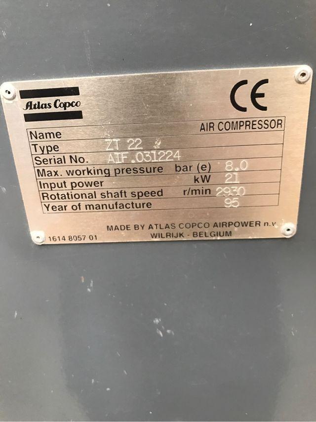 Compresor de tornillo atlas