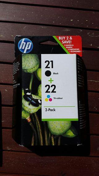 Cartuchos tinta hp 21 i 22