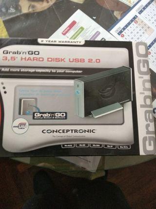 Disco duro externo 250 GB.