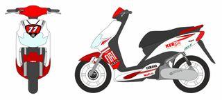 Pegatinas Yamaha JOG R Fiat Ed