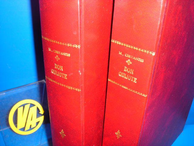 Libro 2 volumenes pergamino DON QUIJOTE tapa dura