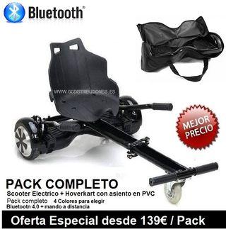 Pack Hoverboad + Hoverkart + Bolsa de transporte