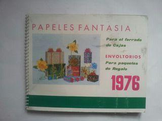 catálogo papeles de envolver fantasía 1976