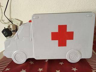 Caja ambulancia, samur, summa, cruz roja