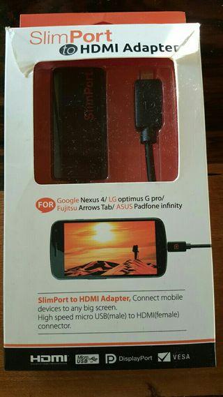 Cable adaptador SlimPort HDMI HD a Micro Usb
