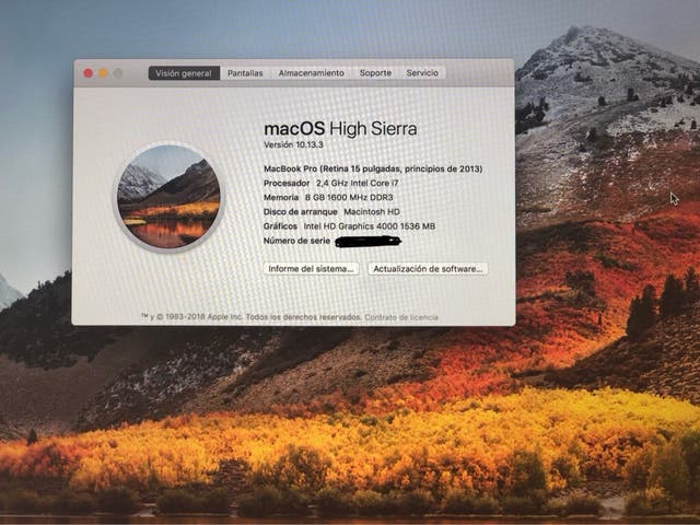 MacBook Pro (Retina 15 pulgadas, principios 2013)
