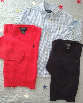 Lote de camisa y dos jersey Polo Ralph Lauren