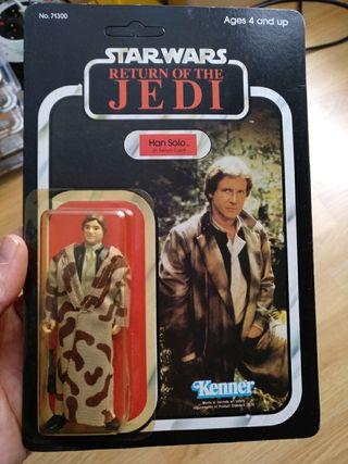 star wars vintage Han Solo trench coat moc