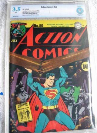 Comic Superman certific. 1942