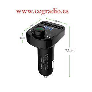 Onever Transmisor FM Bluetooth Manos Libres USB