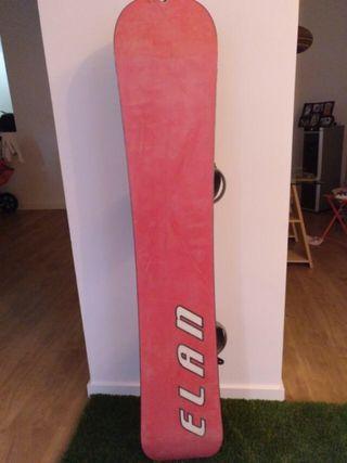 Tabla de snowboard con fijaciones incluidas