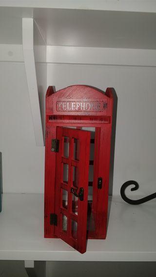 Porta velas Cabina telefónica