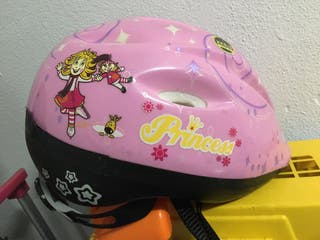 Casco bici rosa infantil