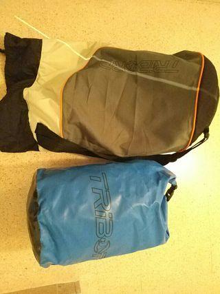 Mochila estanca y mochila transporte