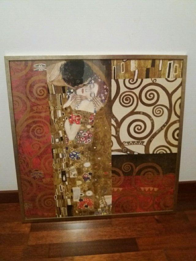 Cuadro el beso de Gustav Klimt (lamina enmarcada) de segunda mano ...