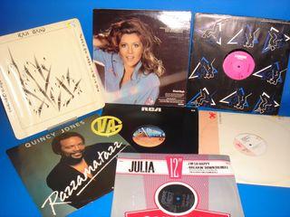 Lote 7 vinilos Musica disco y mas años 80 -djs-