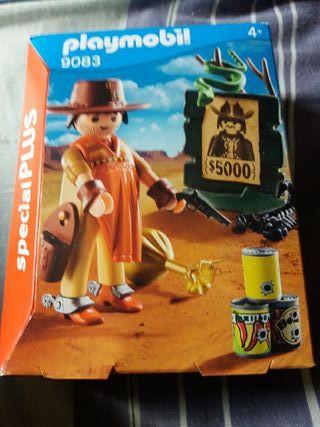 playmobil: cow boy. SIN ABRIR